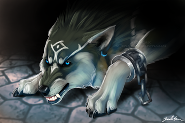 Wolf Link by sugarpoultry