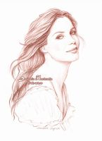 Sandra Bullock sketch by dasidaria-art