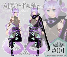 Adoptable #001 - Mint Violet (CLOSE) by DirkannChannel
