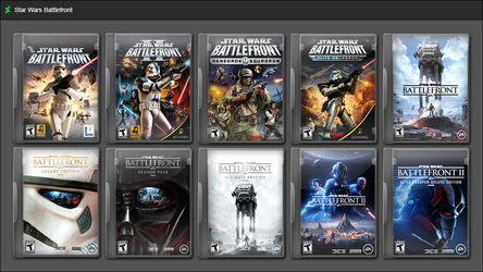Star Wars Battlefront Series by GameBoxIcons
