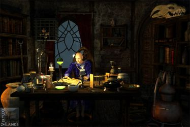 Wizard study by Offrench