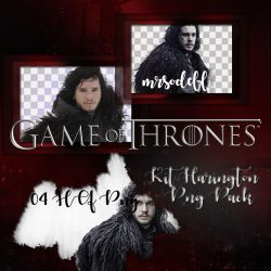 Kit Harington Png Pack by mrsodell