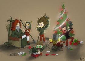 Christmas Brotherhood by Tsunoflare
