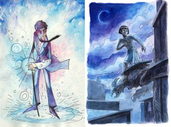 Nathaniel and Bartimaeus by faQy