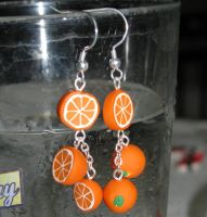 Orange Earrings by SimplyAddictive