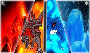 Kaiju: Opposite Forces [Fire Ana Ice] by Cyprus-1