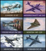 WW2 German Aircrafts by amircea