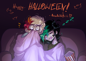 intense action - Halloween (nothing) Special 2k18 by AriochWolf