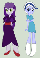 Sibella and Phantasma (Equestria Girls Request) by 3D4D