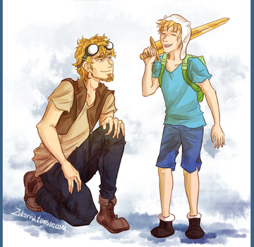 with Jake the human by MadVanilia
