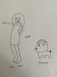 Tap Trial Girl and Barista (from Rhythm Heaven) by wombathewombate