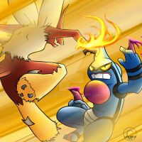 Blaziken vs toxicroak