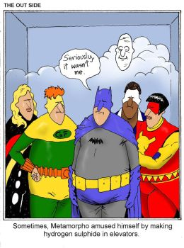 TLIID Superhero funny pages - Far Side Ousiders by Nick-Perks