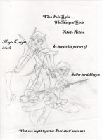 Magical Girls in Action by tehwatcher