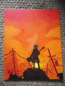 FLCL painting by MetallicPrincessRa