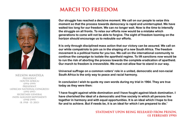 Nelson Mandela - march to freedom by YamaLama1986