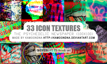 33 icon textures (the psychedelic newspaper) by KaMoonDNA