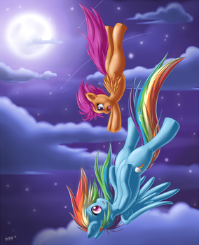 Scootaloo's Dream (speedpaint in desc) by KnifeH