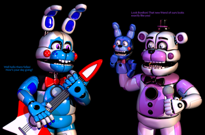 How Funtime Freddy would React to my Funtime Bon by The-Smileyy