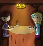 OTP Challenge: #4 (On a date) by WolfyTheRuff