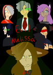 Evil Melissa AU poster by cutewolf360