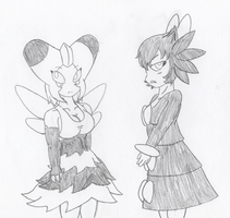 Poke-Girls - Gothitelle and Vespiquen