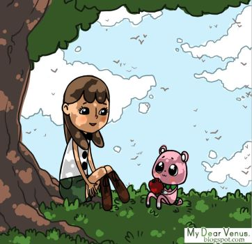 chatting under a tree by mydearvenus