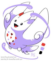DD - Gen2 Color Togekiss by TamarinFrog