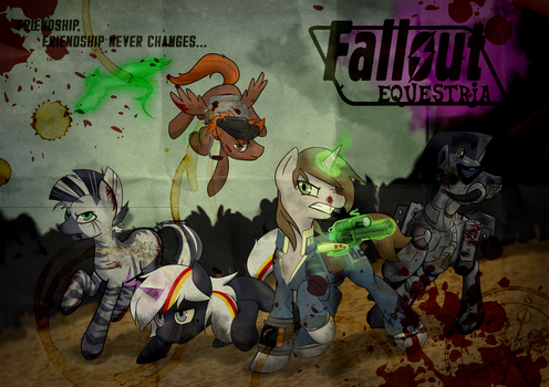 Fallout Equestria Poster (Worn Paper) by sitrirokoia