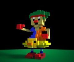 Voxel Clown Abomination by fullhex