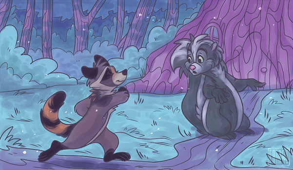 Illustration for the book Little Raccoon #4 by frirro