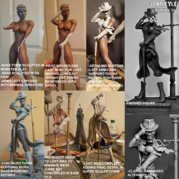 Invisible Dame, work process by seankylestudios