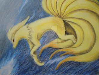 Ninetales Oil Pastel Drawing by Dark-and-One-Other