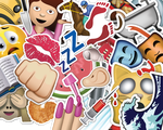 EMOJI STICKER PACK PNG by AEONFLAX