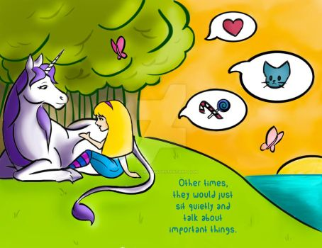 Uni the Unicorn - Redo a Page Illustration by dispelimagines