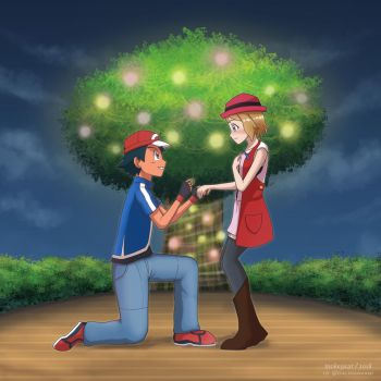 (Comm) Ash Proposes to Serena by ipokegear
