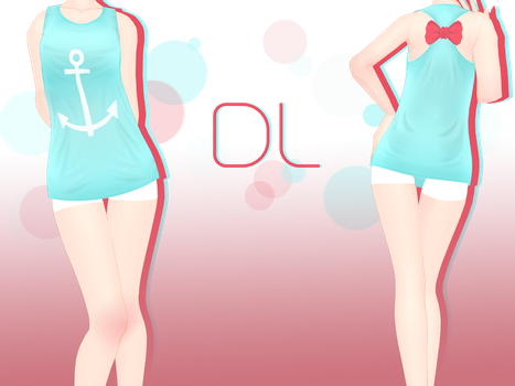 .:: MMD Cute Bow Tank Top - DOWNLOAD ::. by AneCoco