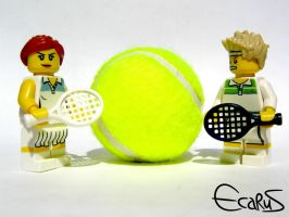 LEGO Tennis players by OnizukaAS