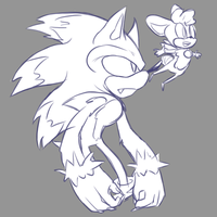Another werehog redraw by TokenTown