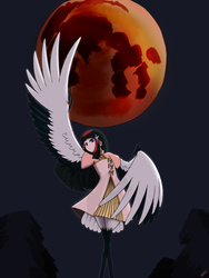 Behind One Face Of The Moon by PurpleKama
