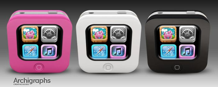 Archigraphs Tiny iPhones by Cyberella74