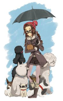 Alice and her Dogs by Jumpix