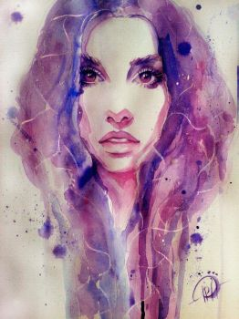 Watercolor Purple by Poplavskaya