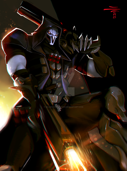 Overwatch Fanart - REAPER by Silverdust-of-war