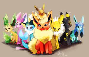 Eeveelutions by CuteSkitty