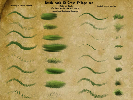 P2U: Brush pack 10 Grass foilage by DragonLoreStudios