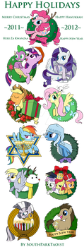 My Little Pony Christmas and Holiday Ornaments by SouthParkTaoist