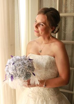 Becca on her wedding day by tamebabyparrots