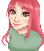 Pink Haired Girl (sketch) by VoodooCultQueen