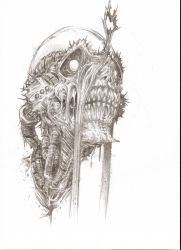 Undead Soldier Sketch by VVernacatola